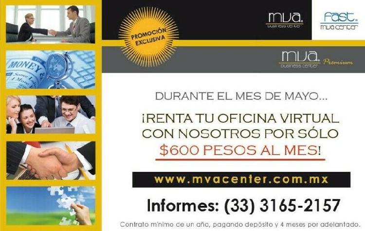 Oficina virtual este mes de mayo a 600 mxn servicios