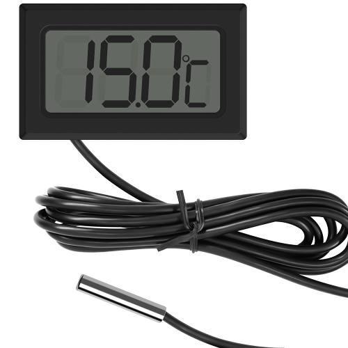 Termómetro digital -50°c a +70°c cable con sensor