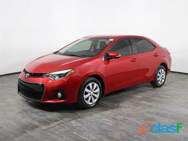 Toyota corolla 2016 sedan rojo