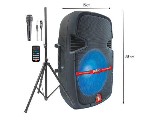 Bafle amplificado bocina kaiser 15 pulgadas tripié msa-5815