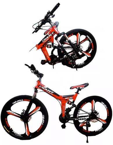 Bicicleta montaña 26´ plegable doble suspension