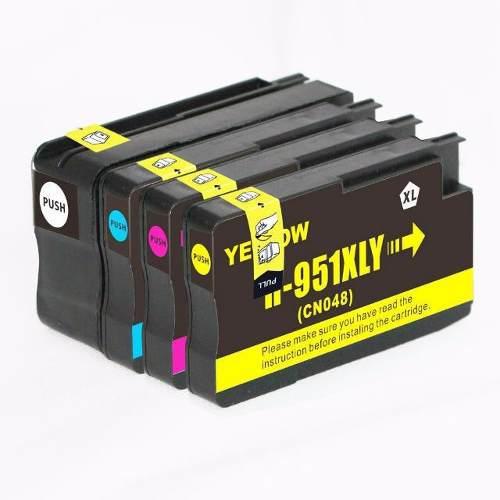 Kit 4 cartuchos tinta compatible 950xl 951xl 8100 8600 8620