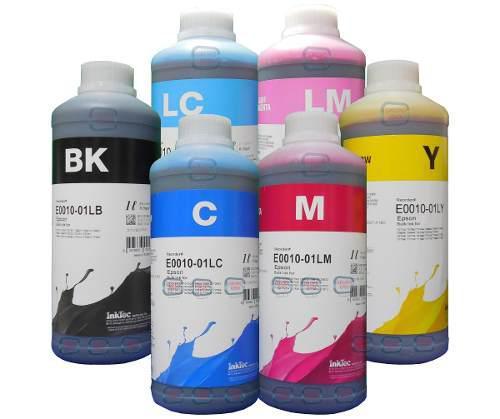 Litro tinta epson dye marca inktec fotografica 6 colores