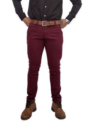 Pantalón skinny de gabardina para hombre