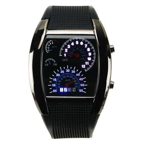 Reloj led hombre digital rapido furioso carro moda caballero