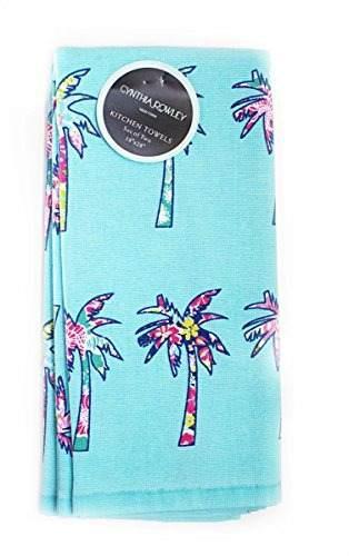 Set de toallas de cocina cynthia rowley floral palm trees 2