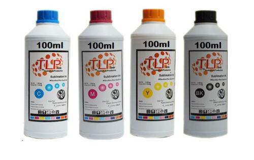 Tinta para sublimar 100ml x 4 colores cmyk marca tlp premium