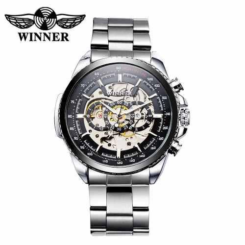 Reloj automático winner calado y mecánico de alta calidad