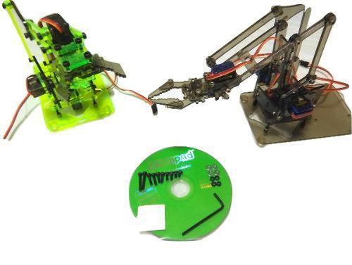 Brazo robótico de acrilico (estructura mecánica) y 4