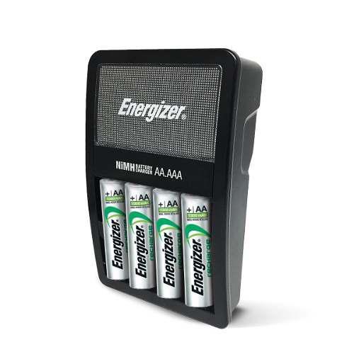 Cargador baterías energizer aa aaa + 4 pilas aa recargables