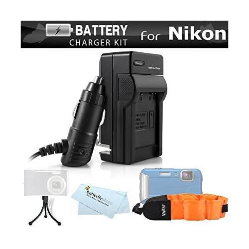 Cargador De Batería Kit Para Nikon Coolpix Aw120, Aw110,