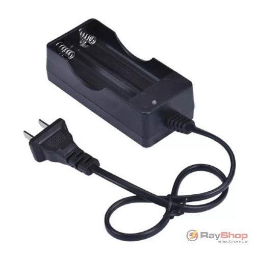 Cargador de pilas baterías 18650 de pared para dos pilas