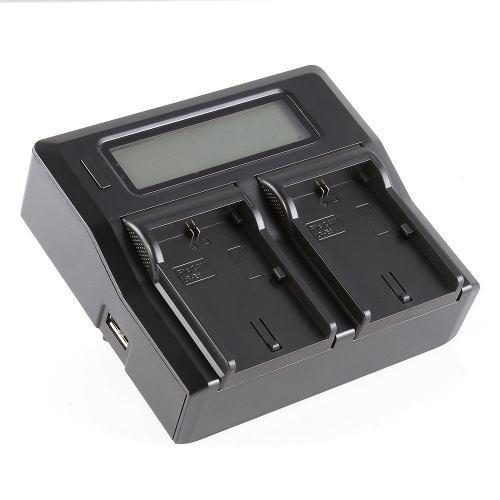 Cargador dual p /baterias canon lp-e6