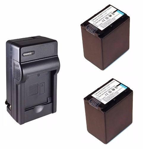 Kit cargador + 2 baterias np-fv100 para video camara sony