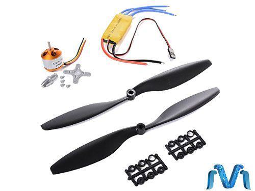 Kit de motor brushle a2212 1000kv+ driver+ aspas para drone