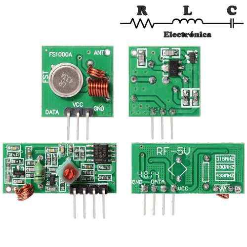 Modulos Rf Emisor Y Receptor 433 Mhz Para Arduino Pic En