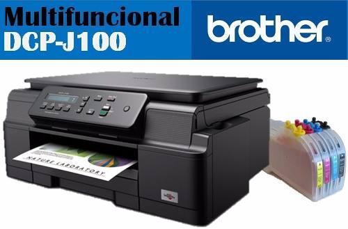 Impresora brother j100 con sistema de tinta mas tinta