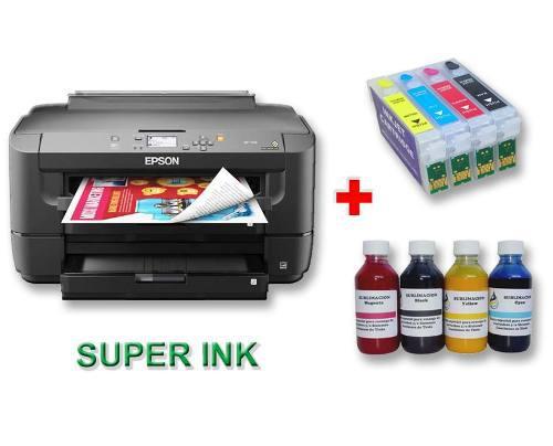 Impresora epson wf 7710 tabloide con cartuchos para sublimar
