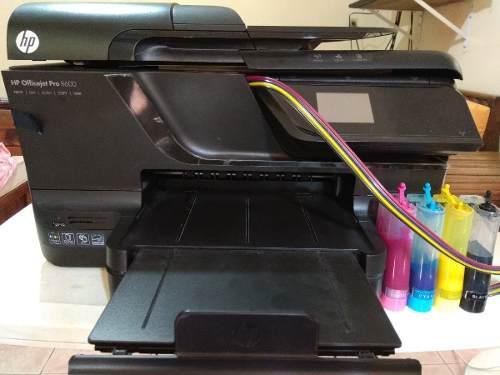Impresora hp 8600 con sistema de tinta pocas impresiones