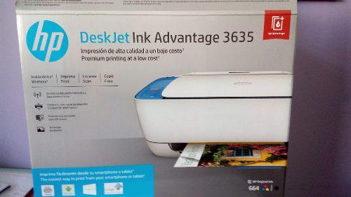 Impresora hp deskjet ink advantage 3635 seminueva