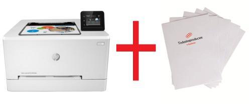 Impresora laser hp +10 hojas de transfer para prendas claras