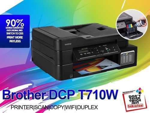 Impresora multifuccional dcp-t710w tinta continua t710