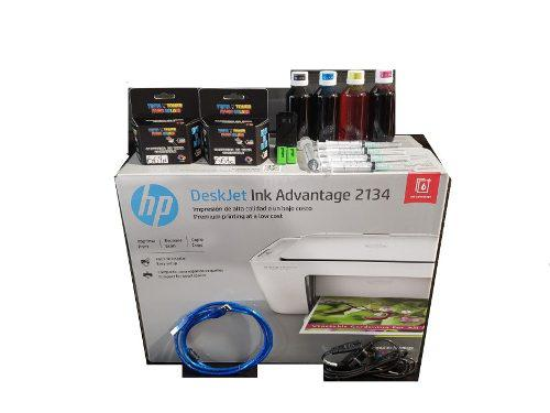 Impresora Multifuncional Hp 2134 Cartuchos Recargables