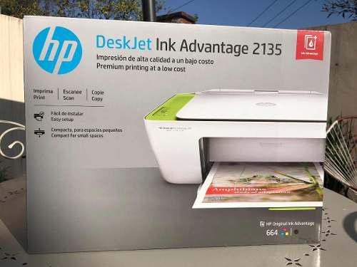 Impresora multifuncional hp deskjet ink advantage 2135/2134
