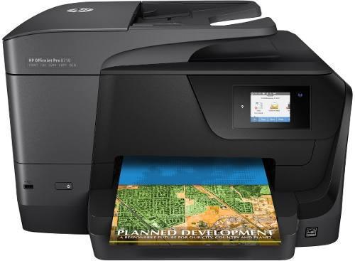 Impresora multifuncional todo en uno officejet pro 8710 fax