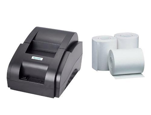 Impresora termica 58mm usb punto de venta + 3 rollos 57x45mm