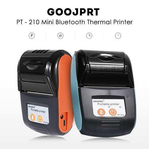 Térmica impresora inalámbrica bluetooth goojprt portátil