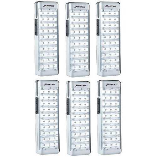 Kit 6 lamparas 30 leds recargables salas lounge 6630