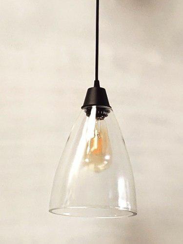 Lampara campana vintage vidrio