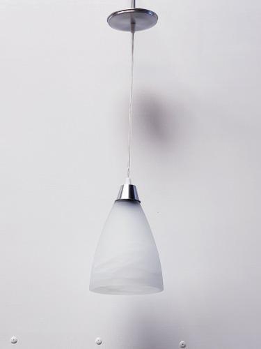 Lampara colgante campana 240 modernista marmol blanco