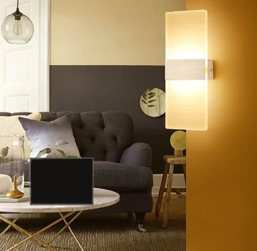 Lampara led moderna, de pared o techo, elegante, blanca