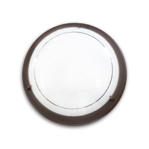 Lámpara techo - plafón americano - chocolate