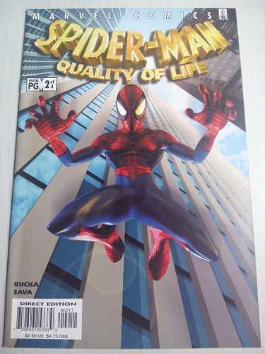 Spiderman quality of life # 2 marvel comics en ingles manga