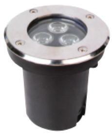 Spot empotrable para piso exterior led 3w ip67 lampara frio
