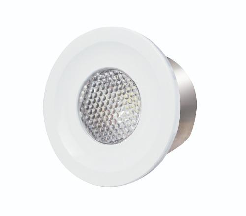 Spots de piso led 3w luz calida/blanca empotrado luminosidad