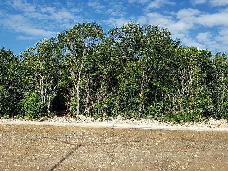 Venta de terreno residencial en arbolada en cancún