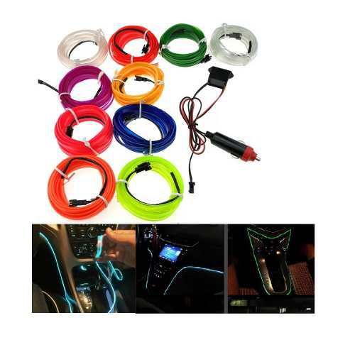 Wire hilo auto interior tira neon led 12v cable ceja 5mm 3mt