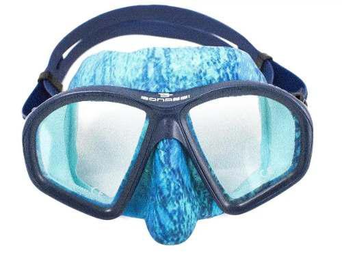 Mascara visor modelo athena bonassi buceo y apnea camu azul