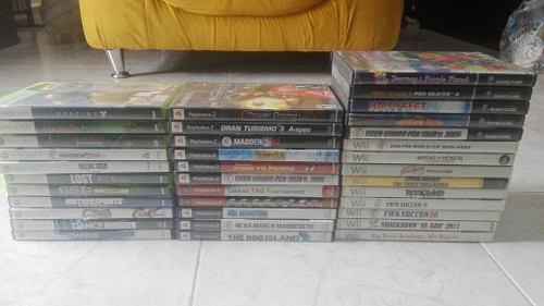 3 juegos nintendo wii gamecube playstation 2 xbox360 gc ps2