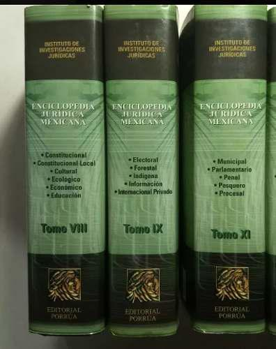Enciclopedia jurídica mexicana tomos...