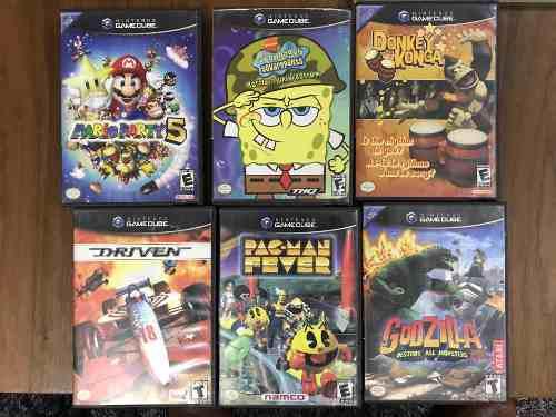Lote de 6 juegos gamecube, incluye mario party 5