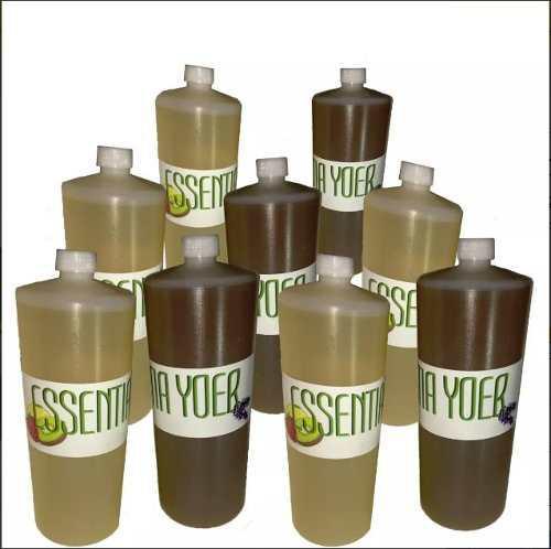 4 medios litros de esencia aroma para productos de limpieza
