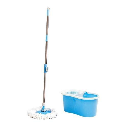 Mop trapeador de acero inoxidable, exprime fácil 360°