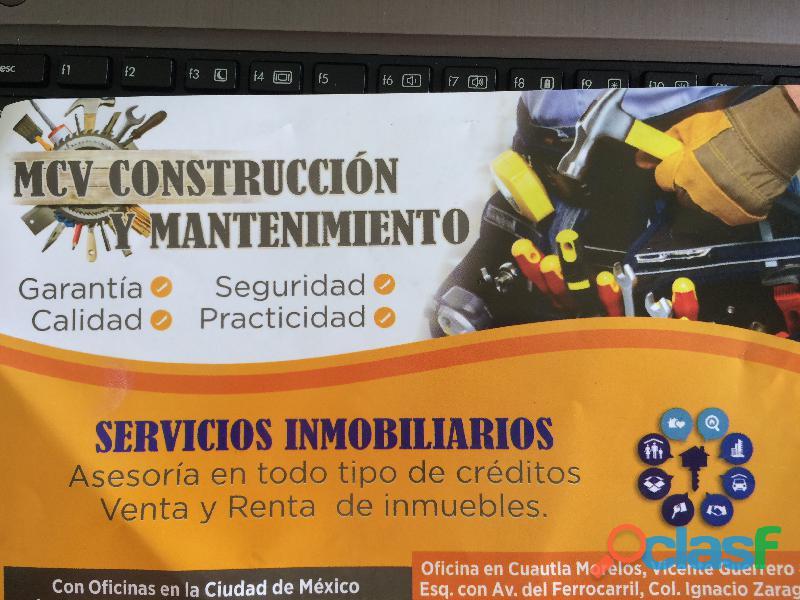 Mcv. construcción y mantenimiento, ofrece los siguientes ser