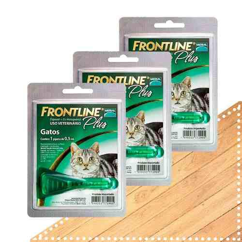 Frontline plus 3 pipetas para gato elimina pulgas garrapatas