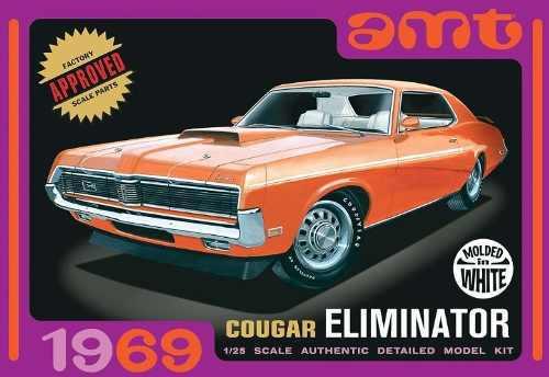 Amt 898/12 1/25 1969 mercury cougar eliminator white ana